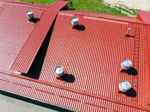 image of metal commercial roof